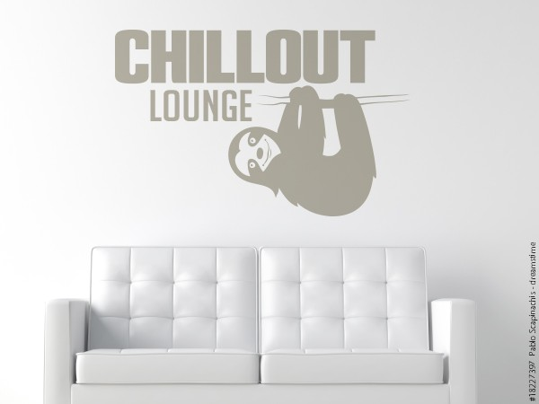 Wandtattoo Chillout Lounge - Faultier